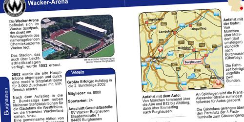 Doppelseite SV Wacker Burghausen